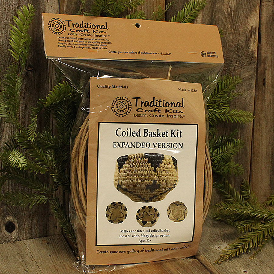 Coiled Basket Kit, everything you need to make a Native American style coiled basket from natural products