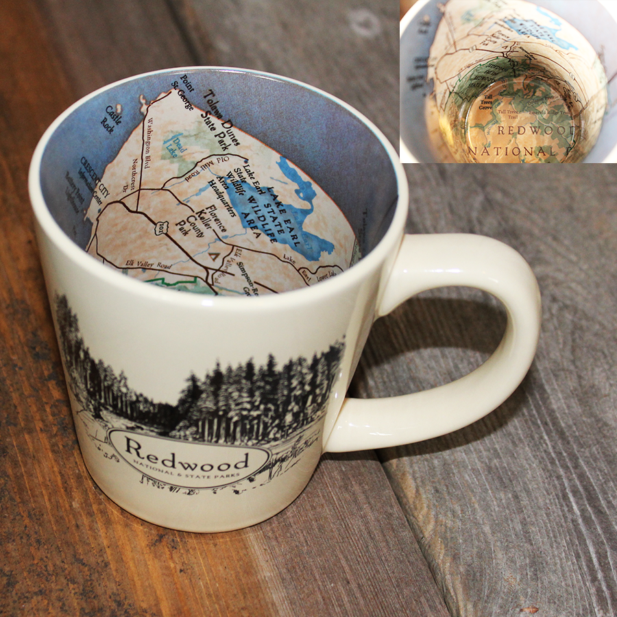 Redwood National and State Parks Mug with a Map