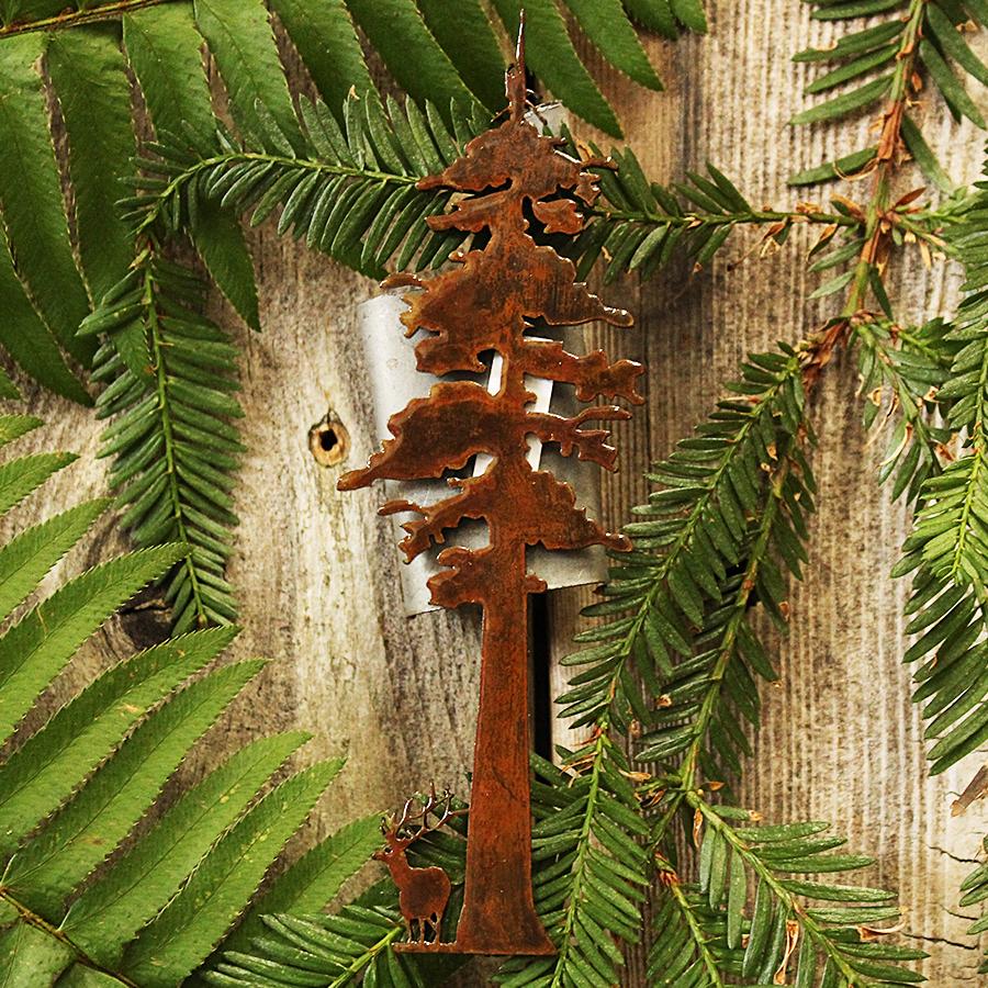 Metal Redwood Magnet with Elk