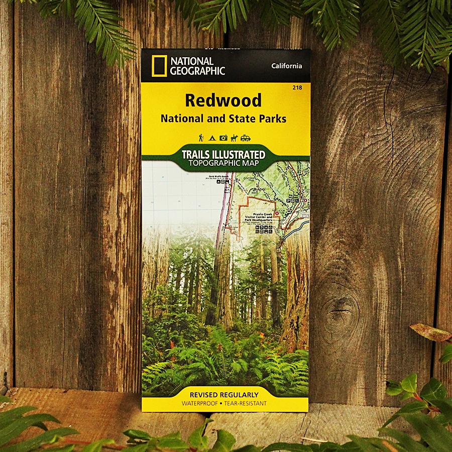 National Geographic Trail Map Redwood National and State Parks