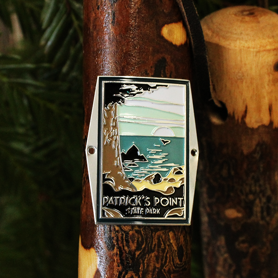 Patrick's Point State Park Hiking Stick Medallion