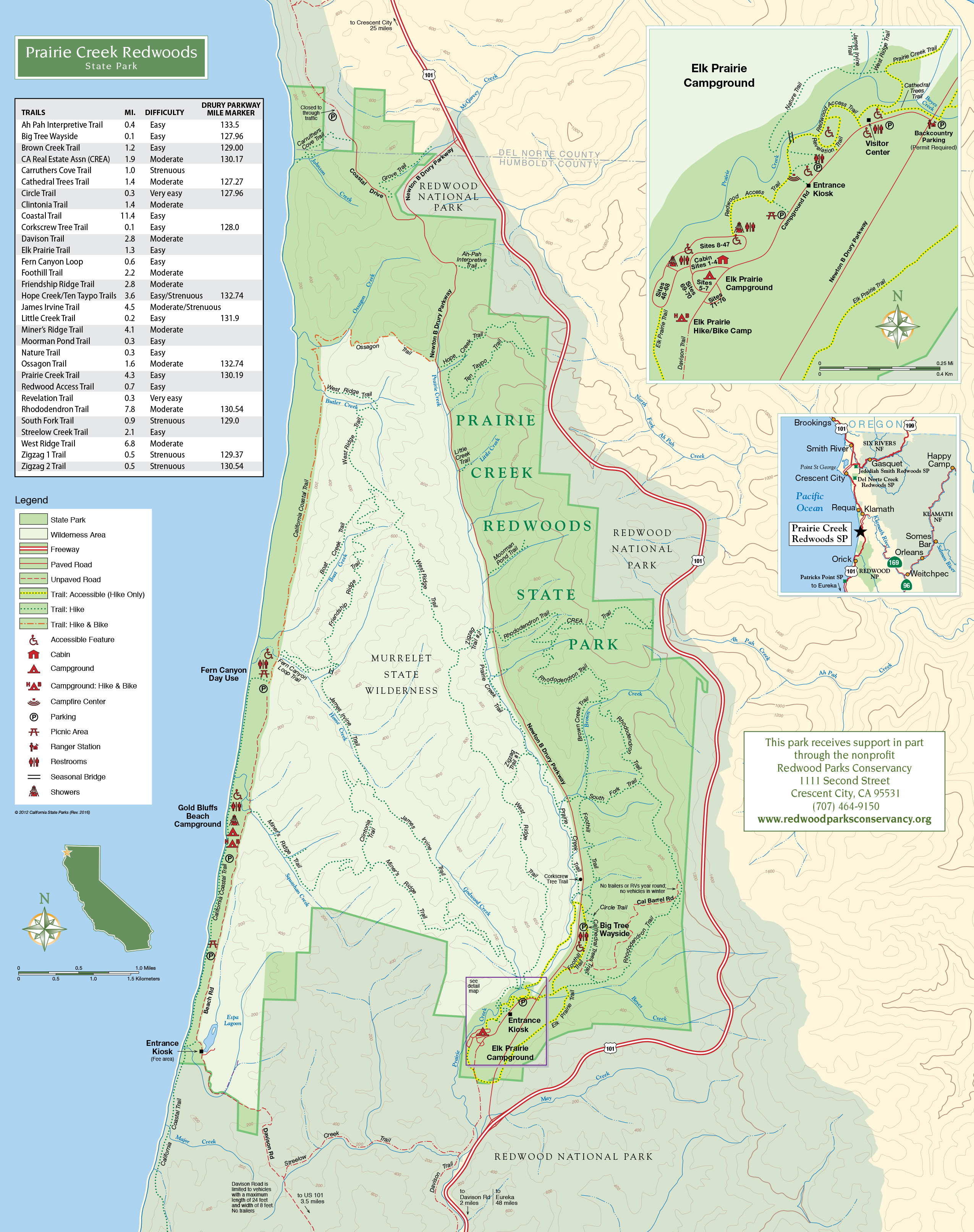 Prairie Creek Trails | Redwood Parks Conservancy on