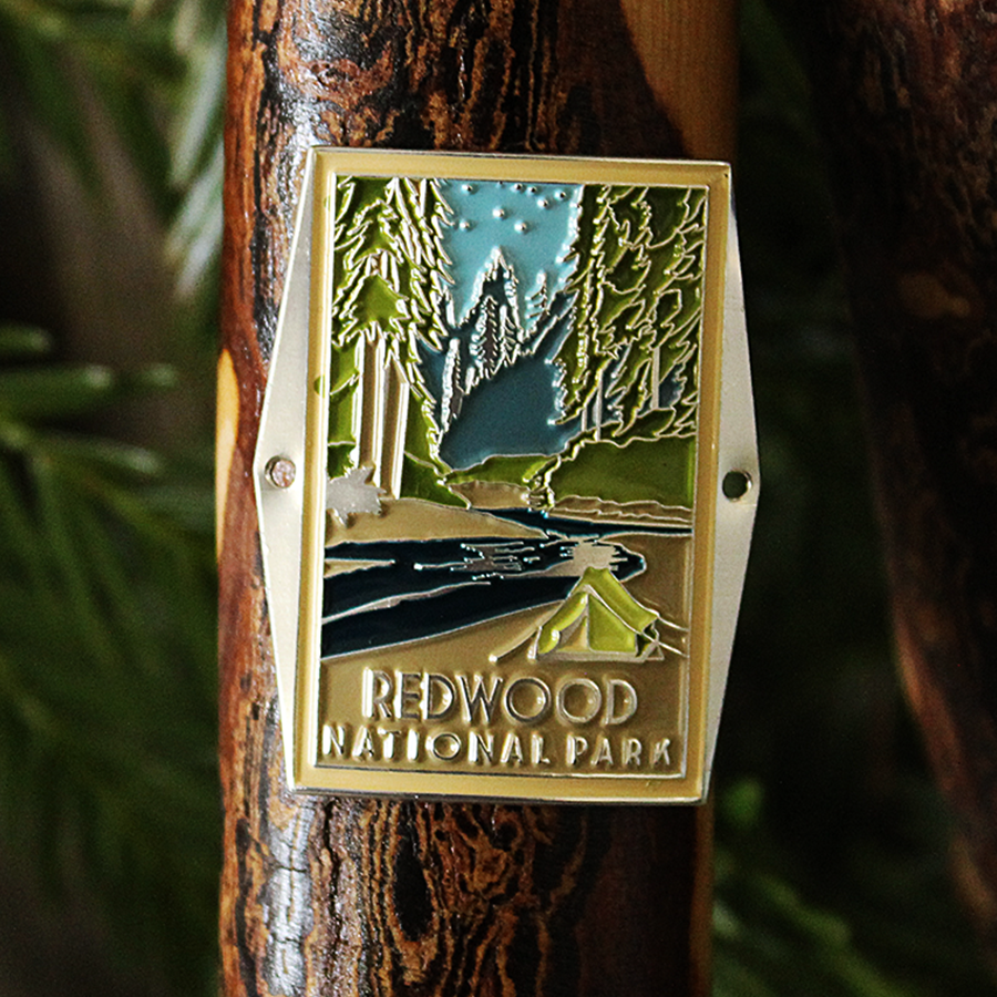 Redwood National Park Hiking Stick Medallion