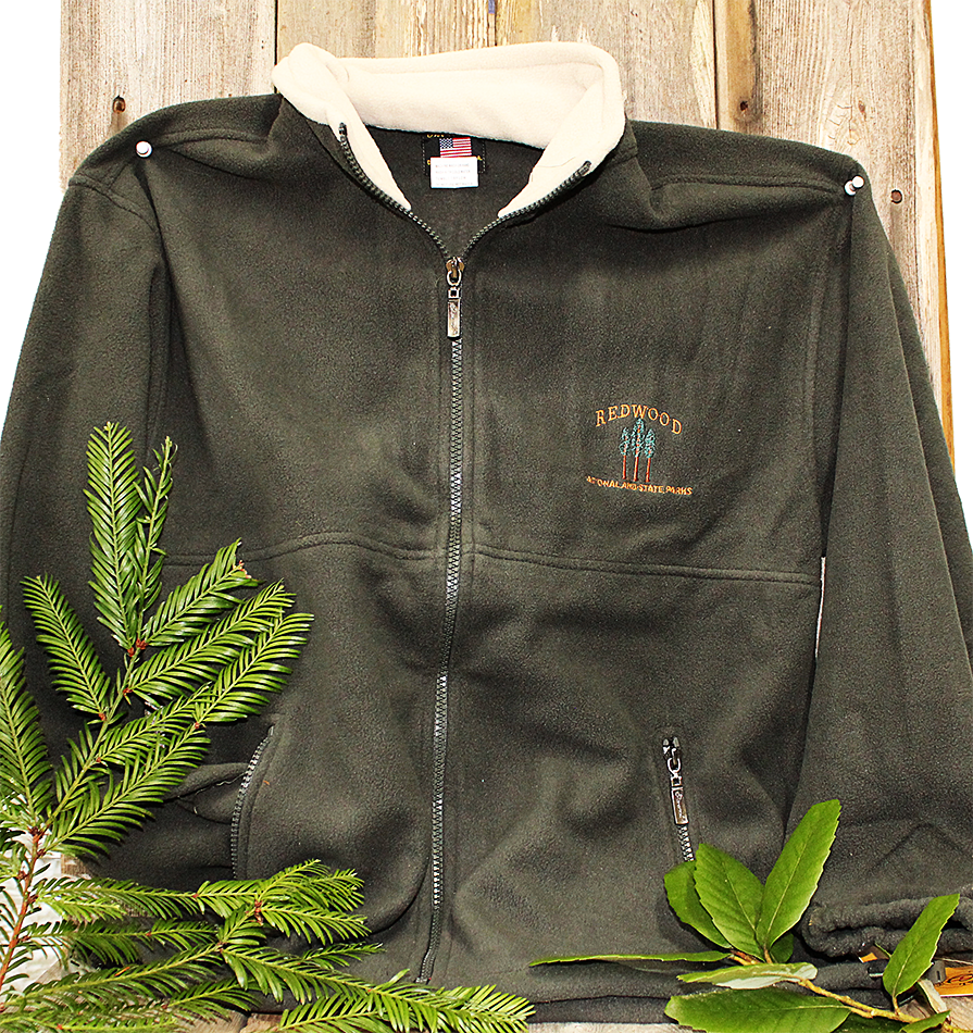 Redwood National and State Parks Fleece Jacket in Green