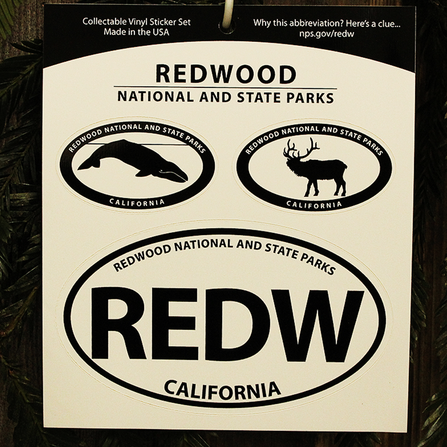 Redwood National and State Parks Sticker Set