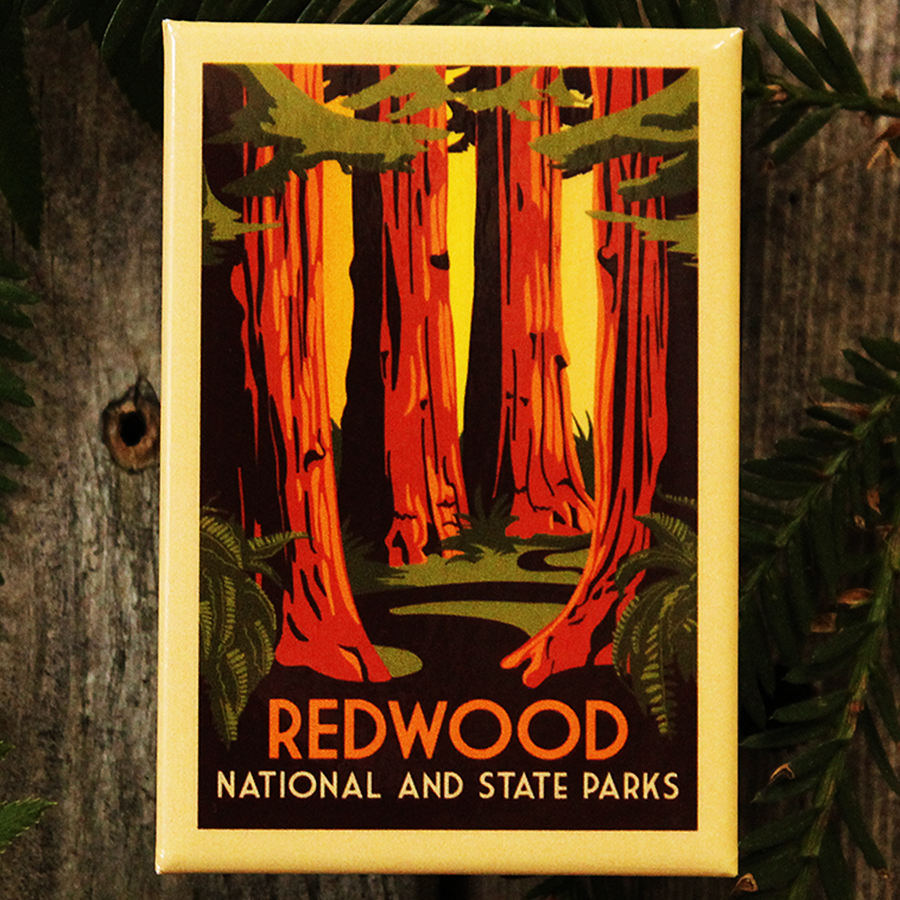 WPA Redwood National and State Parks Refrigerator Magnet