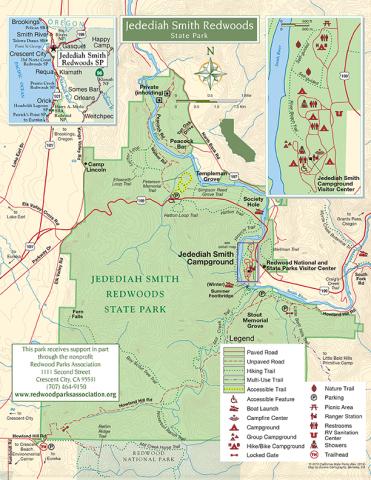 redwood national park map pdf
