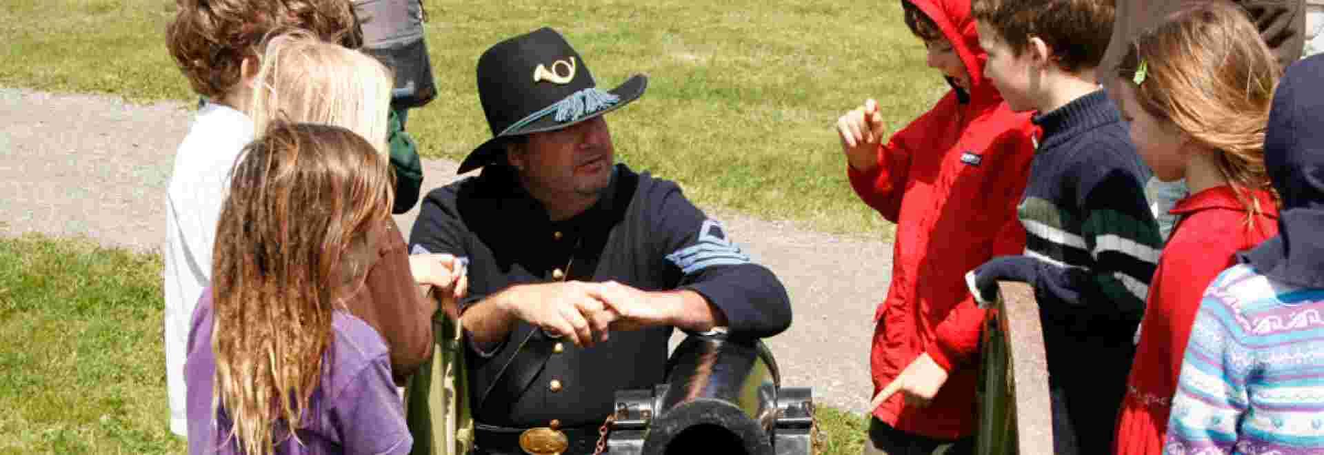 Living history demonstration performed at Fort Humboldt State Historic Park