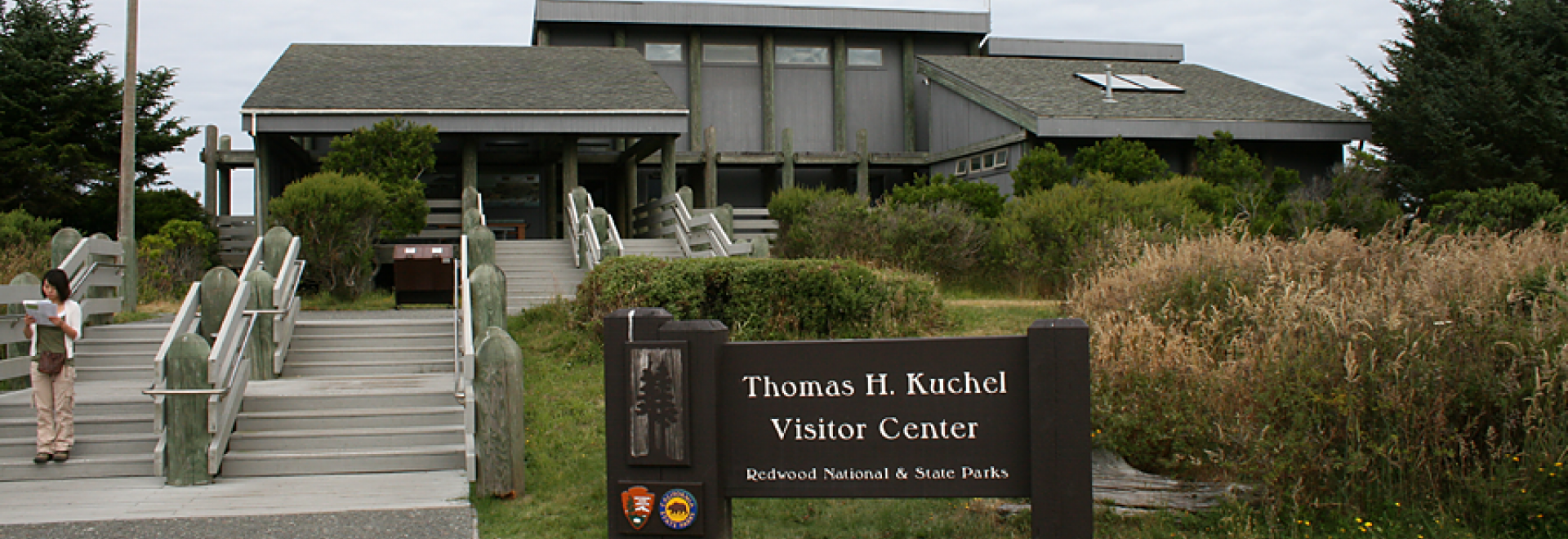 Thomas H. Kuchel Visitor Center for the south side of Redwood National and State Parks