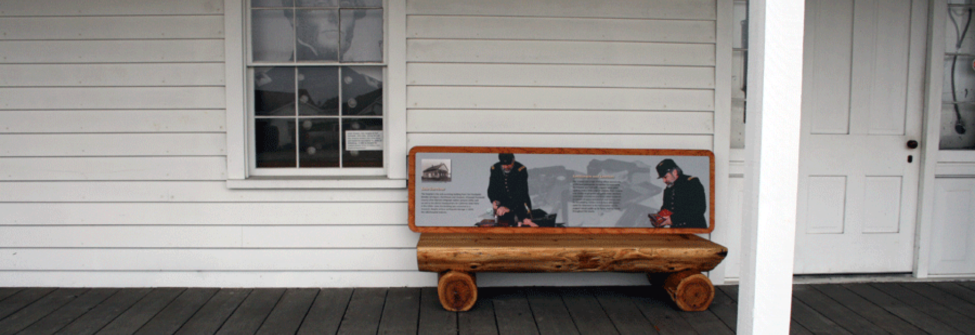One of several interpretive signs about the life and purpose of Fort Humboldt