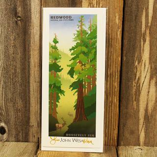 John Wesa Roosevelt Elk Note Card