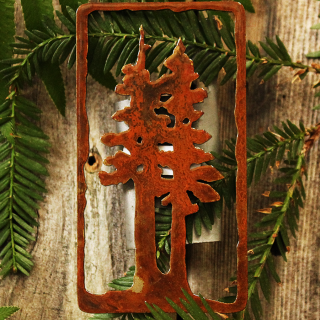 Metal Two Trees Magnet