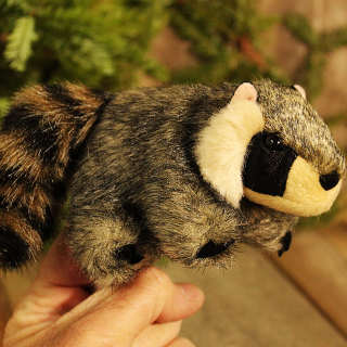 Raccoon Finger Puppet