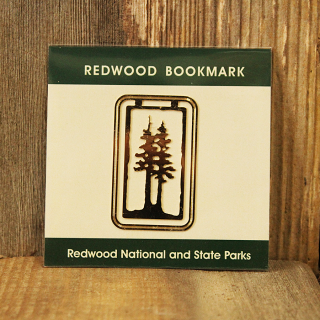 Redwood National and State Parks Golden Colored Metal Bookmark