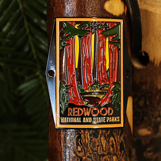 Redwood National and State Parks Hiking Stick Medallion