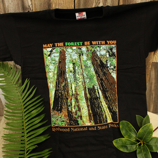 "Redwood National and State Parks ""May the Forest be with You"" Adult Shirt"