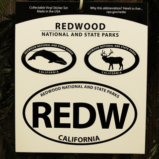 Redwood National and State Parks Window Sticker Set
