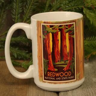 Redwood National and State Parks WPA Style Ceramic Mug