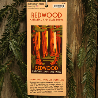 Redwood National and State Parks WPA Style Window Sticker