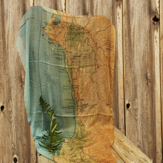 Redwood National and State Parks Scarf Map