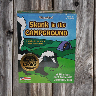 Skunk in the Campground Game, fun filled card game with jokes and fun animal facts