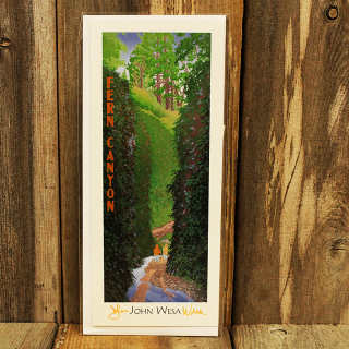 John Wesa Fern Canyon Note Card